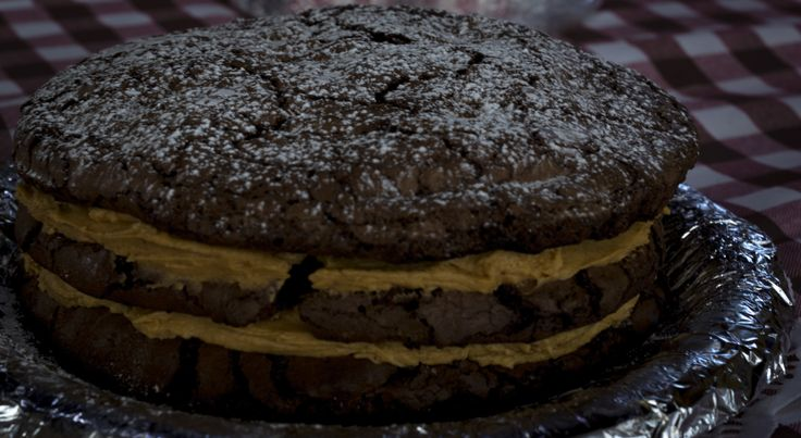 Coffee cake with mocha cream filling from baking workshop