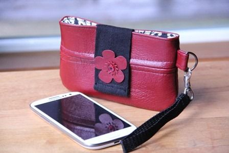 Recycled Leather Phone Case 1 - Crafty Staci
