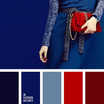 dark blue, navy color, powder blue, red, red skin color, sapphire color, satin color, scarlet color, the palette of colors for fashion, transport red, vermilion.