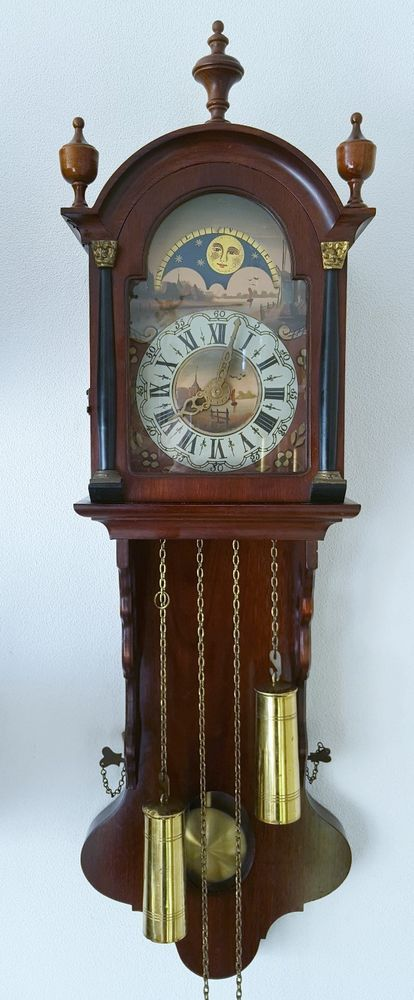 This Vintage Dutch Warmink Wall Clock Friese Tailed 8 Day Chain Driven