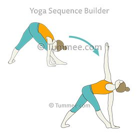 pyramid pose variation hands down revolved triangle pose