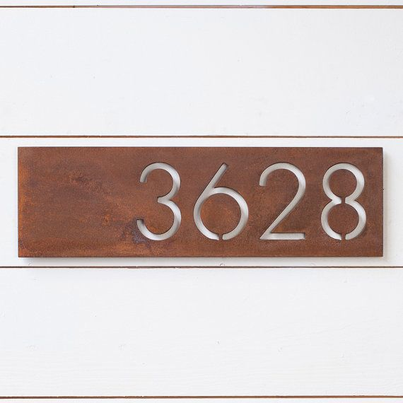 The Monroe House Numbers by boldmfg on Etsy