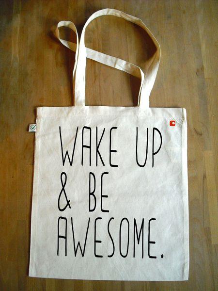 Jutebeutel AWESOME // tote bag by cuadrado via dawanda.com