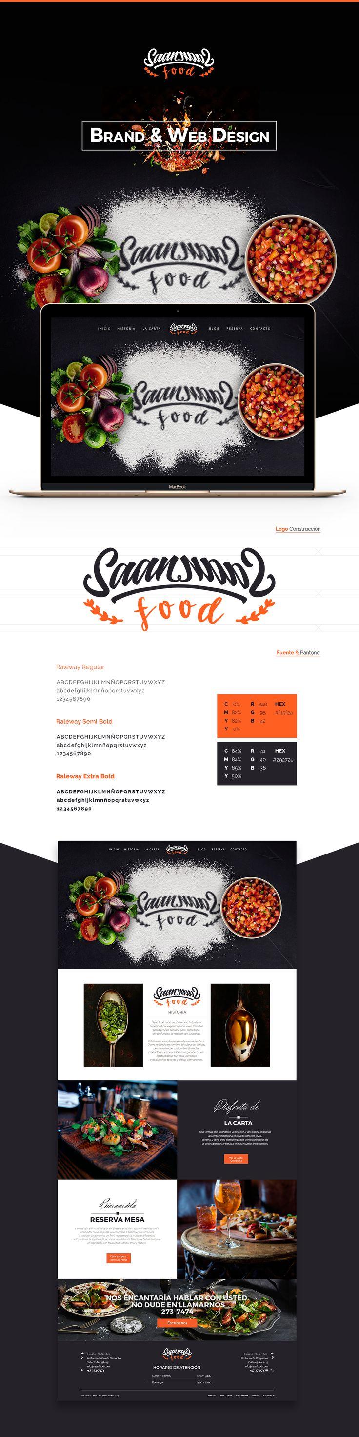 Saan Food - Sabor Registrado, es un restaurante de cocina Peruana Gourmet. Proyecto de Identidad, desarrollo de marca y desarrollo de sitio web.Saan Food- Registered Sabor, is a Peruvian cuisine restaurant Gourmet. Project Identity, branding and website…