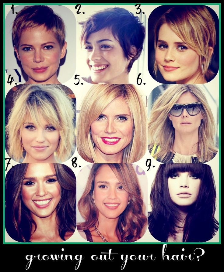 9 stages of growing short hair, with tips on how your hairdresser can trim you thru those awkward stages!