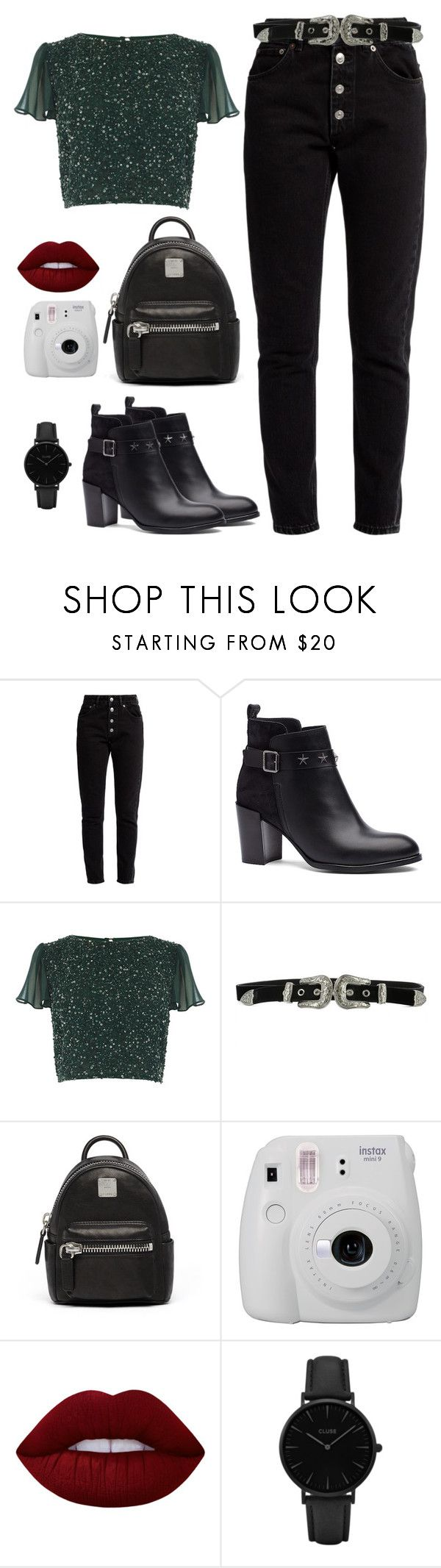 """""""New song"""" by fatyespinosa1 on Polyvore featuring moda, Balenciaga, Tommy Hilfiger, B-Low the Belt, MCM, Fujifilm, Lime Crime y CLUSE"""