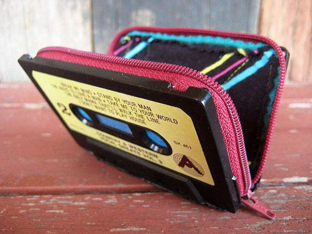 Upcycled Wallet. Upcycle This! 13 Things Made from Cassette Tapes #eco_friendly #diy #upcycle