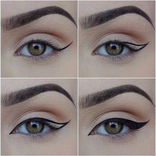 Como fazer um olho marcante com delineador.