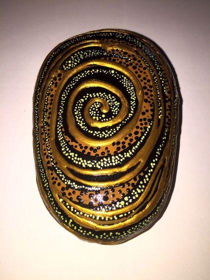 """Купить Камни """" Дудл"""" - роспись по камню, ручная роспись, галька, природный камень"""