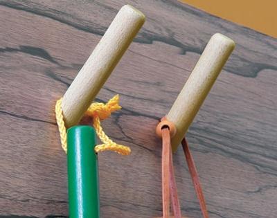5 ganci in legno