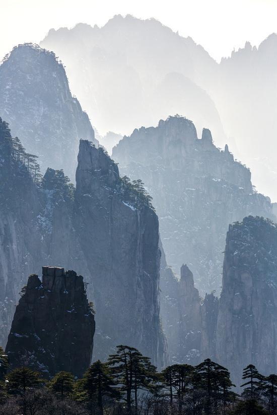 Huangshan Mountainscape   China