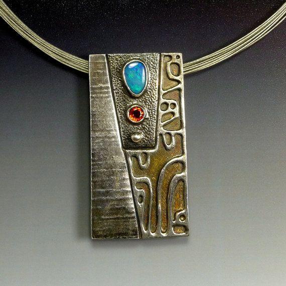 Australian Opal Pendant  Opal Necklace  от oblivionjewellery