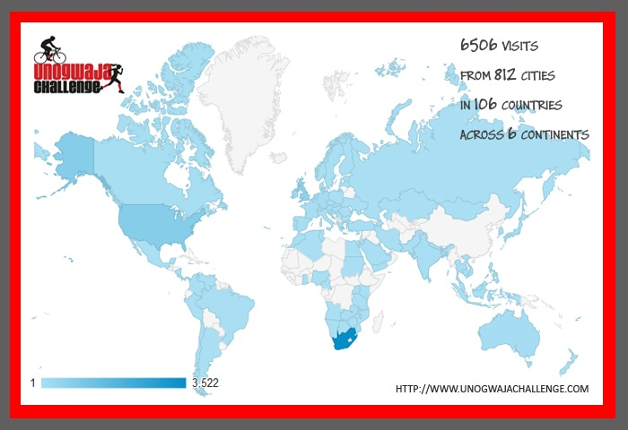 6,506 visits from 812 cities in 106 countries across 6 continents! No paid advertising just the power of the heart! shoOops!