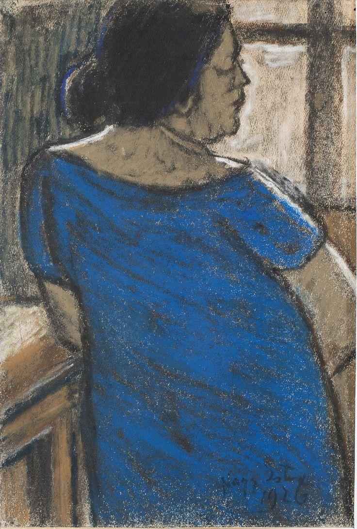 Nagy István: Feleségem kék ruhában, 1926