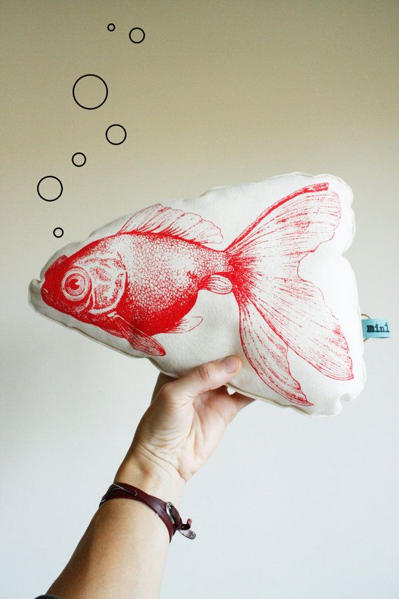 Red Carp mini pillow from minimono on Etsy sells for $33