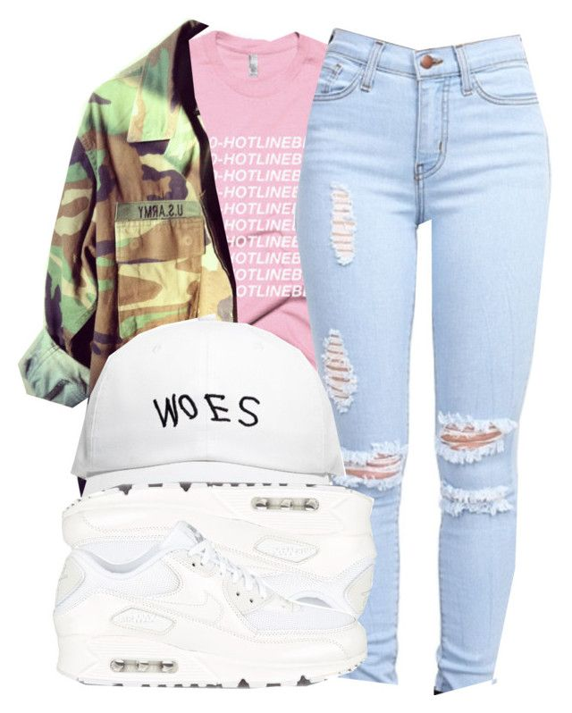 """""""10/4/15"""" by queenc98 ❤ liked on Polyvore featuring October's Very Own and NIKE"""