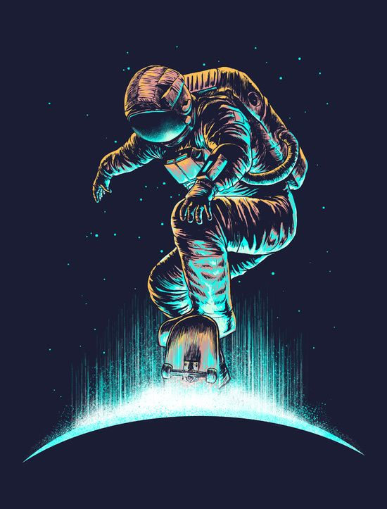 Space Grind Canvas by Carbine