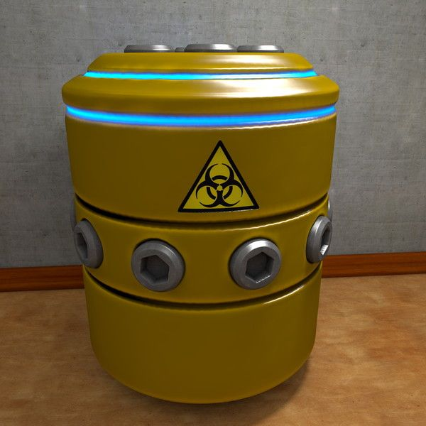 3d c4d scifi container - Container Barrel SciFi... by scyrus