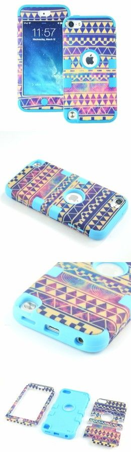 ~This is the case I have for my iPod Touch 5; ≈$4 on Amazon ~ MagicSky PC + Silicone Galaxy Tribal Pattern Case for Apple iPod Touch 5 5th Generation - 1 Pack - Retail Packaging - Blue