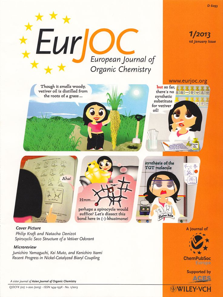 Philip Kraft, Natacha Denizot, Synthesis of a Spirocyclic seco-Structure of the Principal Vetiver Odorant (–)-Khusimone, Eur. J. Org. Chem. 2013, 49–58. DOI: 10.1002/ejoc.201201318