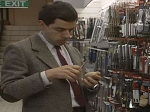 @Howley.in http://howley.in/noob-central/evergreen-funniest-mr-bean-shopping-at-department-stores/ #FunnyVideo #‎MrBean‬ ‪#‎FunnyExpressions‬ ‪#Department #Stores #‎Howley‬ See how our comic Mr.Bean shops with his 1st credit card. Mr.Bean Fans Hit Like (y) Video Source:https://www.youtube.com/watch?v=4YrSmOEFKHE
