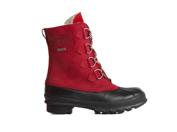 Ten Points Zimní boty s beránkem a TEX membránou 594130 / černo-červená