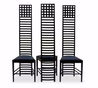 Charles-Rennie-Mackintosh-Hill-House-Chair- 1902 Mouvement art & craft Recherche de la forme + savoir faire artisanaux