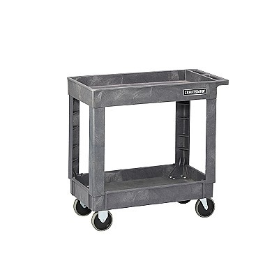 Craftsman 34-1/2   $99.99  Heavy-Duty Plastic utility cart  why not use these inside the home...for art/craft, in kitchen, etc.