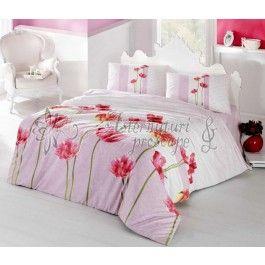 Altinbasak Sare roz - lenjerie de pat din bumbac ranforce 2 persoane