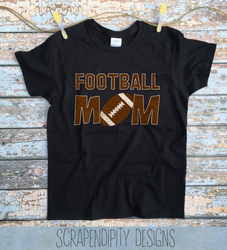 Football Mom Shirt - Custom Football Shirt / Pee Wee Football Tshirt / Womens Customized Tee / Mom Game Day Shirt / Sports Mom Clothing by Scrapendipitees on Etsy