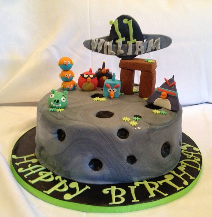Best Games Angry Birds Images On Pinterest Angry Birds Cake - Cake birthday games