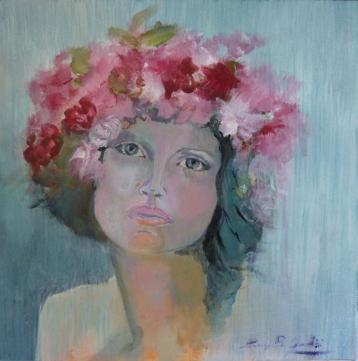 Gea, acrylic on canvas, 20 x 20 cm.