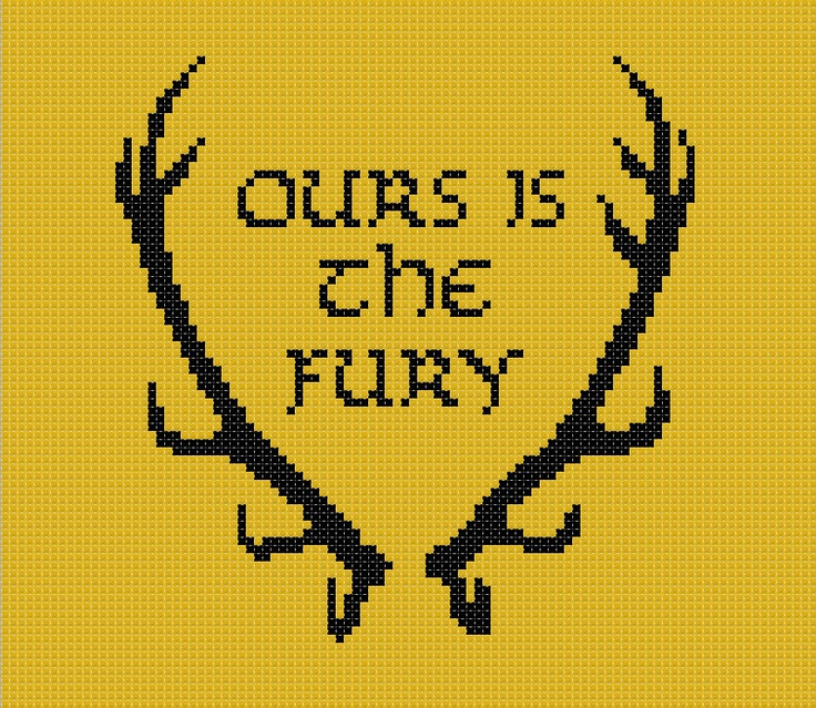 Game of Thrones Baratheon House sigil counted cross stitch printable PDF pattern. £2.30, via Etsy.