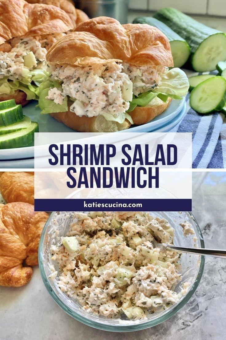 Shrimp Salad Sandwich Recipe Shrimp Salad Sandwich Shrimp Salad Tiny Shrimp Recipe