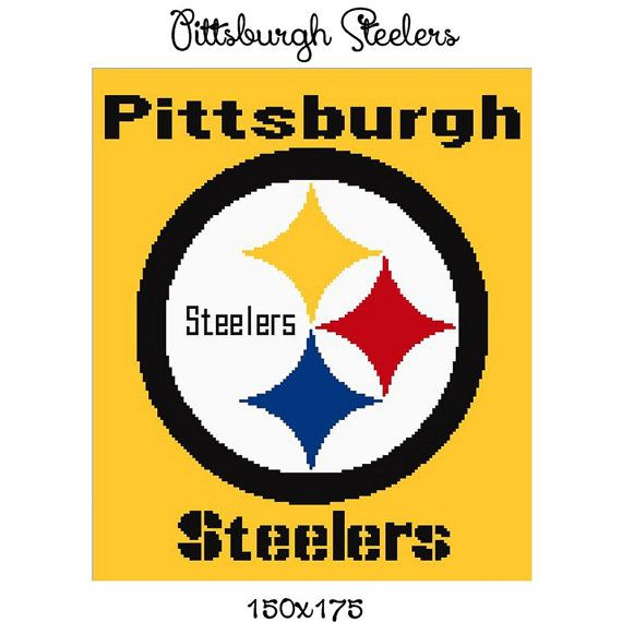 Pittsburgh Steelers blanket crochet graph by CrochetInfinity2