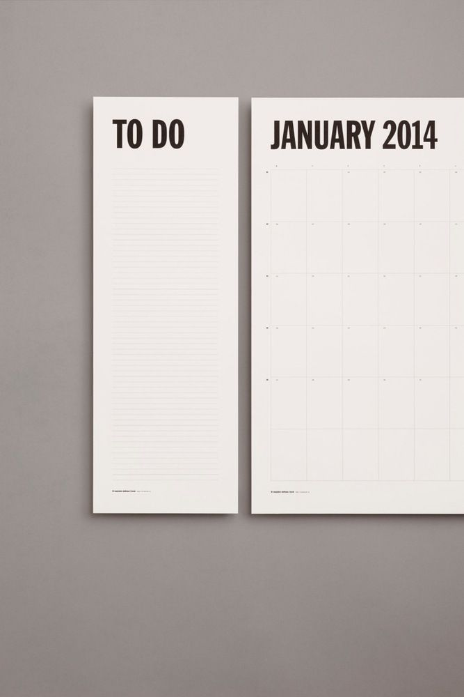 [Make] // Dag-Week-Maand Planner - aan de muur // MARJOLEIN DELHAAS - XL Planner 2014
