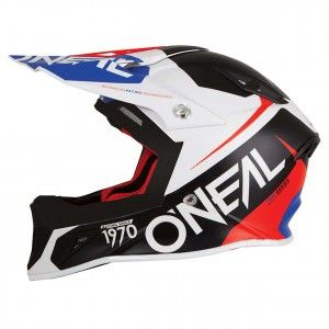 O'Neal Crosshelm 10 Series Flow Blue/Red
