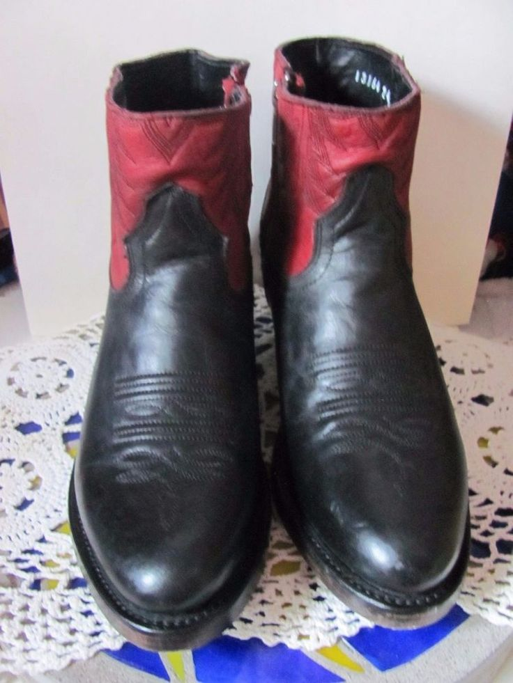 Ash Italia Handmade  Mexican Western Booties Brand New All Genuine Leather Sizes #AshItalia #WesternCowboyCowgirl #Any