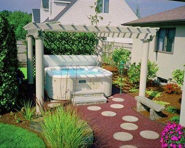 156 best hot tub love images on pinterest | gardening, backyard ... - Hot Tub Patio Designs