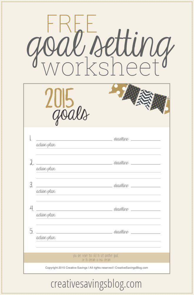 Best Goal Setting Printables  Motivation Images On