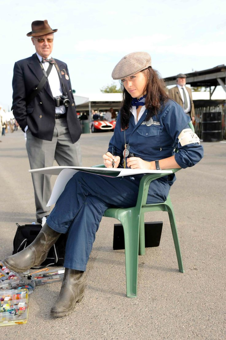 Painting at Goodwood Revival in 2009