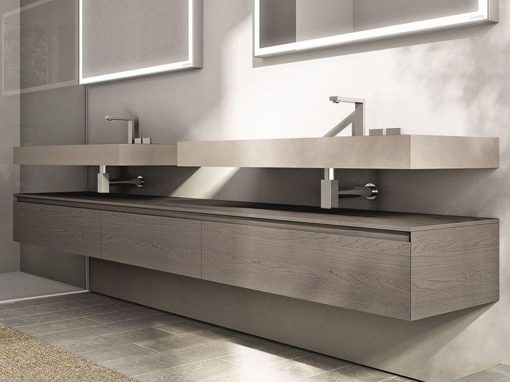 Descarga el catálogo y solicita al fabricante Cubik   mueble bajo lavabo By idea, mueble bajo lavabo doble, Colección cubik