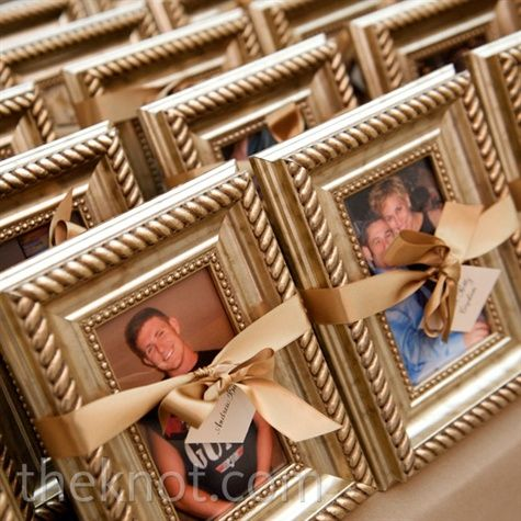 Framed Photo Favors- great idea to put a picture of you and the guests! maybe even engrave the frame with wedding date etc...