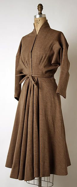 Madame Grès (Alix Barton)  Dress  Fr. 1948 Wool