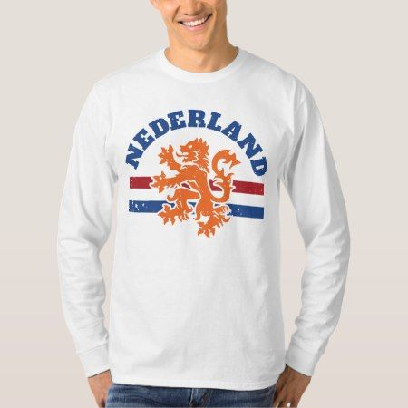 Dutch Lion and Flag of Netherlands T-Shirt - click to get yours right now!