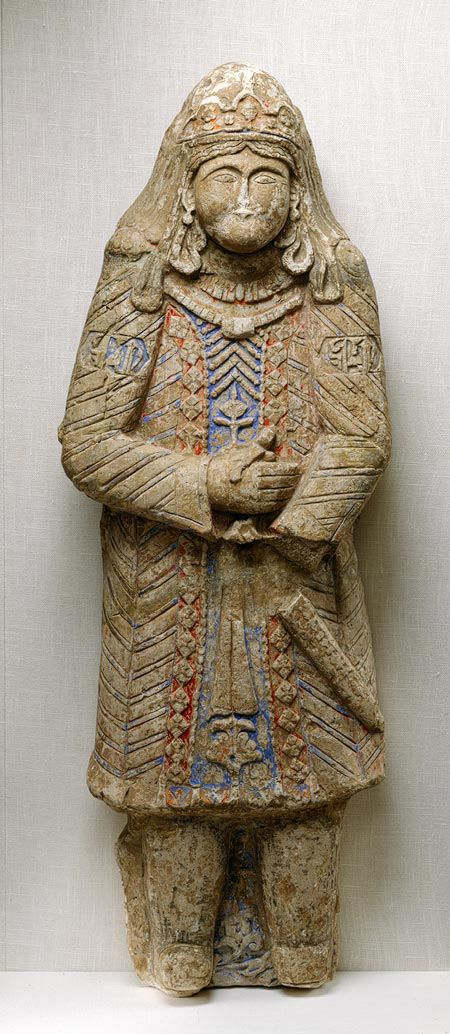Figure, ca. 1200; Seljuq  Iran  Painted stucco