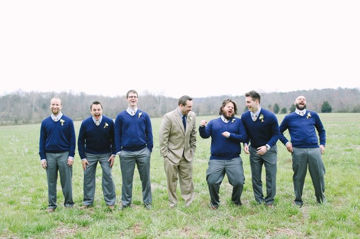 Groomsmen in sweaters