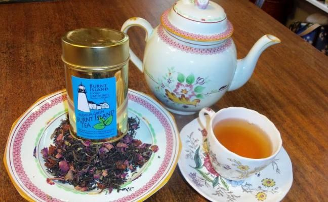 Burnt Island's very own tea blend will be served to visitors on Open Lighthouse Day, September 15. The tea was created by Nancy Hilton of MacNab's Tea Room at the request of the Keepers of Burnt Island Light. LISA KRISTOFF/Boothbay Register