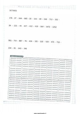 Quaderno di matematica classe quarta