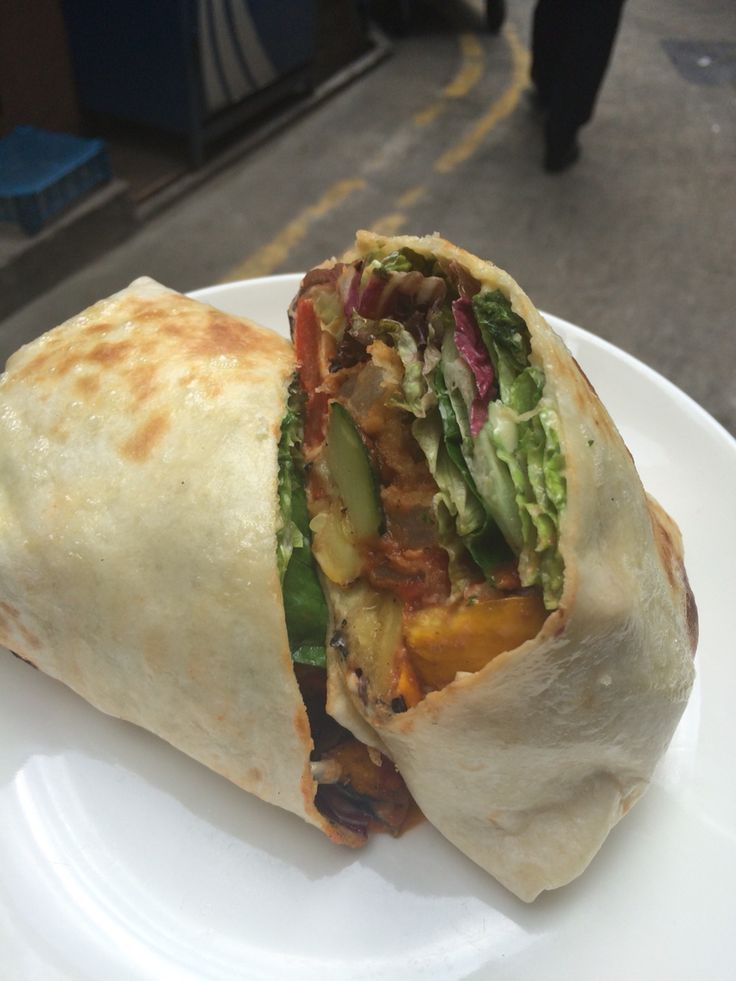 Roasted Vegetables & Onion Rings Wrap